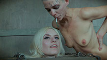 Abigail Dupree tits squeezed in nipple clamps