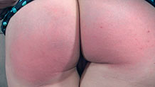 Dresden's ass bright red from spanking