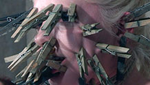 Dresden humiliated with face covered in clothespins