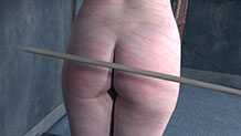 Dresden gets her ass caned until bright red