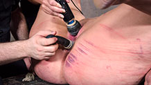 Mimosa fucked in the ass with electrical dildo