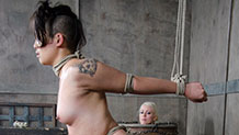 Milcah Halili with whip marks gets tits caned