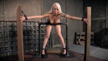 Lorelei Lee's feet in shackles as she is fucked