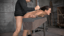 Selma Sin's gets fucked hard and deep while in bondage