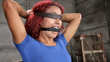 Sexy Daisy Ducati blindfolded and gagged