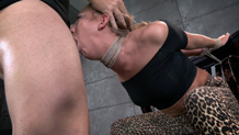 Carter Cruise strains and chokes in brutal deepthroat