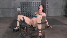 Cici Rhodes cums hard while bound on a fucking machine