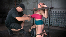 Rough sex and submission dungeon slave Cici Rhodes on sybian