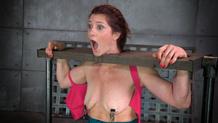 Sex slave Cici Rhodes cums hard in strict bondage