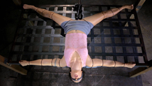 Bound dungeon sex slave Wenona vibrated