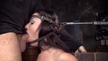 Sex and submission Jennifer White deepthroat blowjob machine