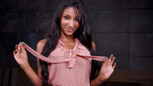 Bound busty Hispanic Sadie Santana choking Sexuallybroken