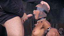 AVN winner Skin Diamond Sexuallybroken deepthroat bondage