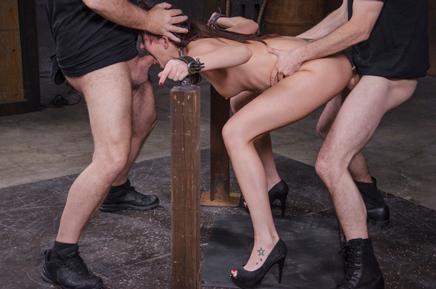 Bianca Breeze Sexuallybroken deepthroat bondage rough sex