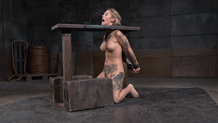 Sexuallybroken tattooed Kleio Valentien shackled to sybian