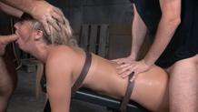 Sexuallybroken bondage Madelyn Monroe rough sex deepthroat