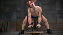 Sexy Violet Monroe fucked and deepthroating BBC in bondage