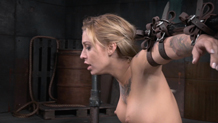 Tied up Kleio Valentien brutally facefucked by hard cock