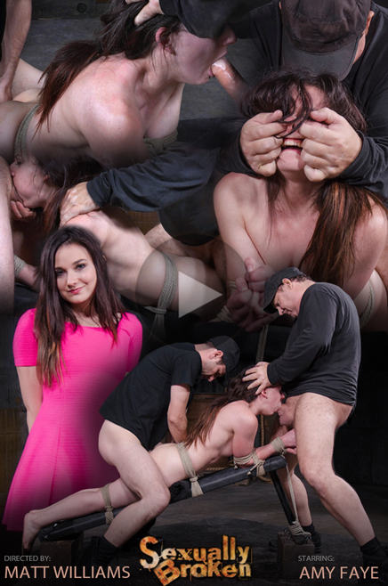 Amy Faye bound face down ass up and roughly fucked