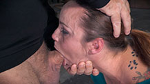 Drooling Bella Rossi suffers breathplay in bondage