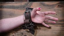 Sexually broken Cherry Torn suffering in strict bondage