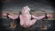 Pale blonde Cherry Torn deepthoating huge black cock