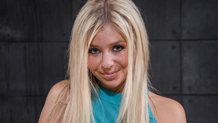 Deepthroating blonde Madelyn Monroe gets her breasts grabbed