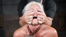 Sexy Holly Heart roughly fucked in bondage and deepthroating