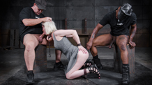 Cherry Torn shackled to floor and facefucked