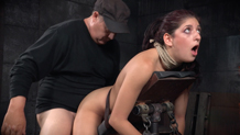 Nubile Nikki Knightly roughly fucked in bondage