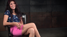 Bendy starlet Nikki Knightly blindfolded and choked