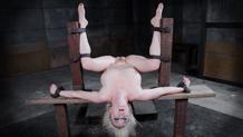 Bound blonde Cherry Torn awaits her fate