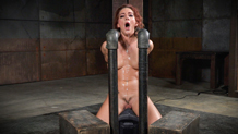 Sexy Savannah Fox cums her brains out in bondage