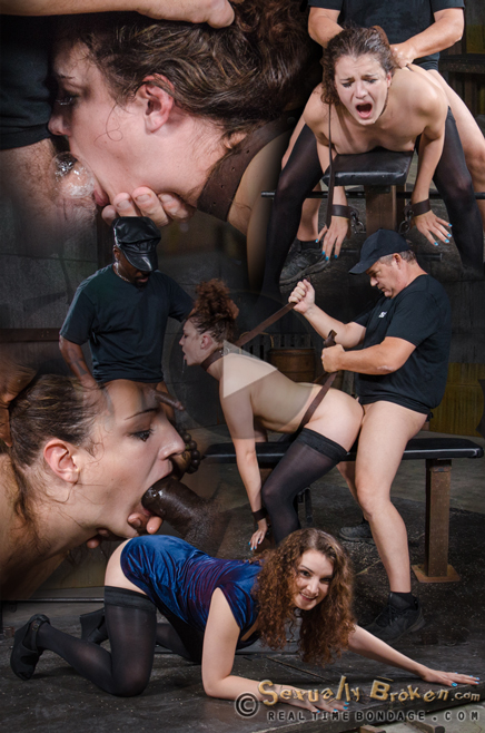 Flexible Endza roughly fucked with brutal deepthroat on BBC