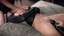 Big hard dick enters Nikki Knightly shaved pussy
