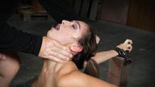 Messy little Sara Luvv does epic deepthroat