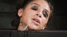 Bound and deepthroating Abella Danger is throatboarded