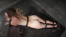 Bound sex slave Mona Wales used hard by big dicks