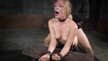 Bound fuck toy Mona Wales deepthroats hard cock