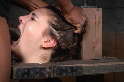 Drooling Endza deepthroats BBC in stocks