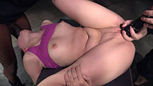Breathplay and rough fucking for Aria Alexander