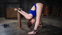 Bound and vibrated Endza Adiar cums hard in shackles