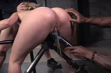 Bound Mona Wales has a gushing orgasm