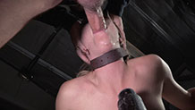 Bound starlet Mona Wales taken from both ends
