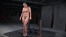 Undone Angel Allwoods cums hard in bondage