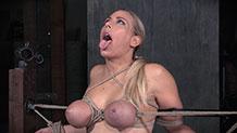 Huge black cock chokes Angel Allwood's face