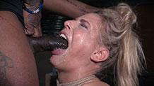 Huge black cock fucks Angel Allwood's face