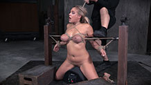 Messy blonde Angel Allwood facefucked by BBC