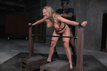 Bound Angel Allwood roughly fucked by BBC