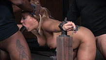 Sexy Angel Allwood roughly fucked as she deepthroats BBC